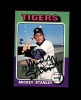 Mickey Stanley Hand Signed 1975 Topps Detroit Tigers Autograph