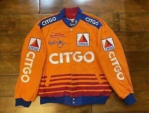 Michael Waltrip #21 Citgo Racing Race Jacket Mens Size Large NASCAR JH Rare