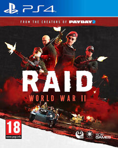 Raid World War 2 (II) PS4 Game *in Excellent Condition*