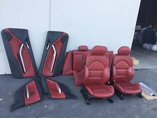 BMW E46 M3 330CI 325CI OEM (2001-2006) 122K  RED LEATHER SEATS SEAT MINT COND!!
