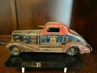 Antique Vintage Tin Toy Wind Up Louis Marx G-Man Pursuit Car-LITHO. 11403