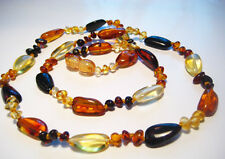Genuine  Baltic  Amber Necklace 22inch. 56cm