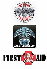 Graham Tool Company Sticker Set: First Aid, No Tools Loaned, Think Mechanically