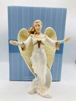 Hallmark Keepsake Nativity Collection Glad Tidings Porcelain Angel Figure 2005