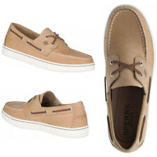 NEW SPERRY Top-Sider Cup 2-Eye Men's Leather Boat Shoes Beige SELECT SIZE