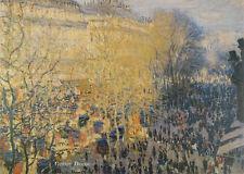 """28"""" PRINT Boulevard of Capucines,1873 by C.Monet ANTIQUE MUSEUM ART - LANDSCAPE"""