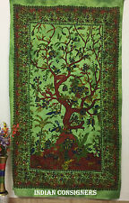 Tapestry Bedding Floral Life On Tree Birds Nature Love Sheet Wall Hanging 85*55
