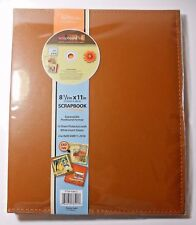 Tapestry SCRAPBOOK ALBUM w/DIGITAL SCRAPBOOK SOFTWARE 8.5x11 in Expandable BROWN