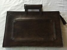"""Vintage Leather Briefcase Angler's Co. 'Tri-Consul' 17"""" VERY Good Condition!!!"""