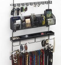 Longstem Men's Tie Belt Rack Accessory Closet Hanging Organizer Black #9200