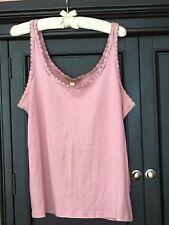 Sigrid Olsen For Nordstrom 100% Cotton Exclusive Of Decoration Pink T~Shirt Sz L