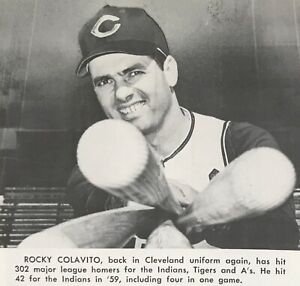 Rocky Colavito Returns 1965 CLEVELAND INDIANS Baseball Yearbook Pictorial Review