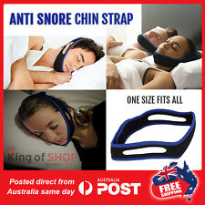 2 x SNORE NO MORE CHIN STRAPS  Snore Sleep Apnea  Apnoea Stopper Solution