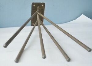 Spindle  Metall Brass Wall Mount Drying Rack Hand Made Industrial Design