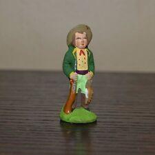 Vintage Santons Marcel Carbonel Hunter Village Figurine Size #1 Clay Figure