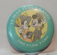Vintage Disney Pin Badge  Mickey Mouse 1900 Park Fare  6cm