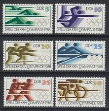 DDR East Germany 1988 ** Mi.3183/88 Olympische Spiele | Olympic Games