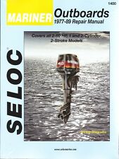 Update 1977-1989 Mariner Outboards 1-2 Cylinder 2-60 Hp Seloc Repair Manual 0152