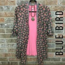 BlUE BIRD cardigan pink floral size small