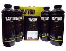 U-Pol Raptor BLACK 4 Bottle Kit Tough Urethene Coating Liner Protective Barrier