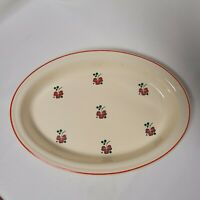 Homer Laughlin Royal Oven Serve Red clover Oval 13 inch Baking Dish