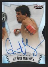 2012 TOPPS STRIKEFORCE FINEST GILBERT MELENDEZ SIGNED MMA CARD AUTO