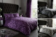 Empire Damask Luxury Duvet Cover Quilt Cover Bedding Single Double King Super