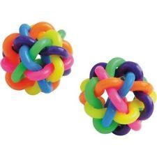 """12 Interlaced Rainbow Bouncy Balls High Bounce 1 1/2"""""""