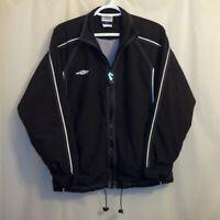Umbro Mesh Lined Windbreaker Jacket Men Small S Black Full Zip