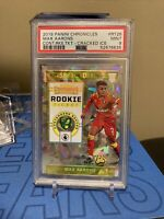 MAX AARONS 2019-20 Chronicles Cracked Ice Rookie Ticket /23 Norwich City PSA 9