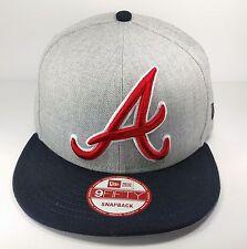 Atlanta Braves New Era 9Fifty Heather Grand Logo On Field Gray Hat Cap MLB