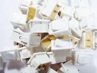 10 Stück Wippschalter Schalter 1xEIN-AUS 250V 6A Marquardt weiß #9S40#