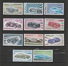 - Monaco  évolution des lignes  automobile  voitures  1975   num:  1018/28  **
