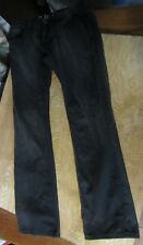 CULT OF INDIVIDUALITY black REBEL STRAIGHT button-fly JEANS mens 33-34 x 33-34