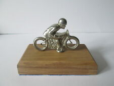 Isle of Man TT rider car mascot. .hood ornament. vehicle mascot
