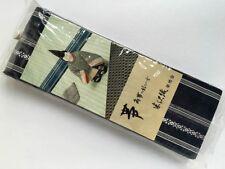 Fine Quality Vintage Mens Cotton Indigo Hakata Obi Unused in Original Package