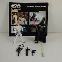 Luke Skywalker & Darth Vader 3.75'' Figure Star Wars Escape Death Star Game 1997