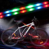 14 LED MTB Road Bike Bicycle Fork Strip Light Bar 3 Modes Waterproof Wheel Lamp
