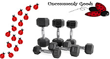 *BRAND NEW* CAP/WEIDER Rubber Hex Dumbbell Pairs Singles