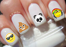 Face Emoji Nail Art Stickers Transfers Decals Set of 66