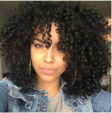 High Qualiy Black Synthetic Wig Long Curly  Afro African American Wig for Women