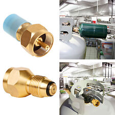 Propane Refill Adapter Lp Gas 1lb Small Cylinder Tank Brass Coleman Heater Shell