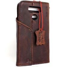 Genuine real leather case for LG G6 book wallet magnetic Closure cover brown new