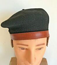 Vintage Classic Kangol Luxor Monty Beret Hat Cap Military Leather Band 100% Wool