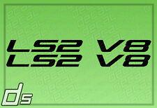 2x LS2 V8 Liter Engine Badge Decals for Cowl Hood Letters Fender Door Sticker
