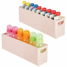 mDesign Plastic Storage Organizer Bin for Breast Milk/Formula, 2 Pack - Pink