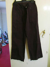 Dark Aubergine Purple M&S Cargo Trousers in Size 8 Long - L32