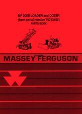 Massey Ferguson Mf 200B Loader Dozer From Sn 70213105 Parts Book Manual