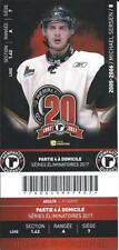 QMJHL Ticket - Quebec Remparts 20th Anniversary MICHAEL SERSEN #8