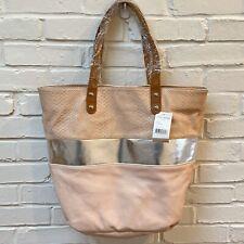 Steve Madden NWT $128 Tote Shoulder Bag Faux Leather Blush Shimmie